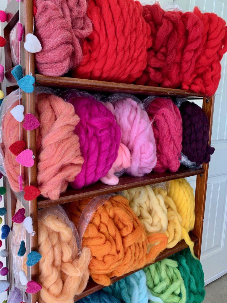 wool roving making felt balls