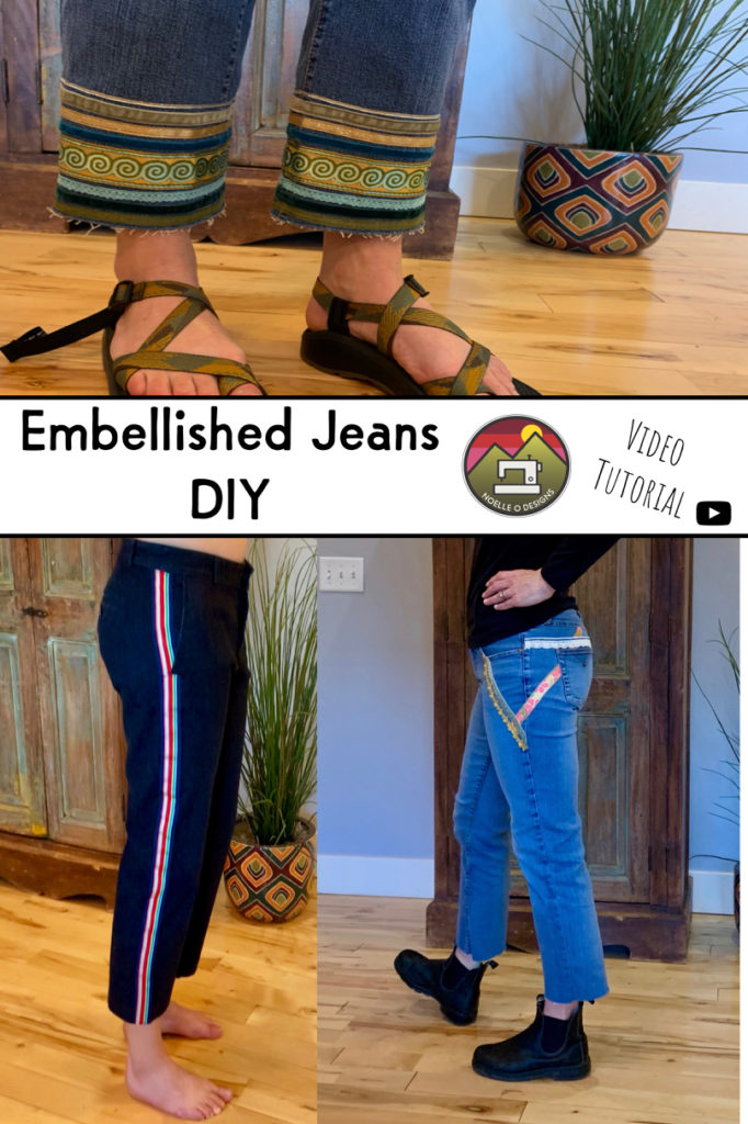 embroidery jeans cuffs