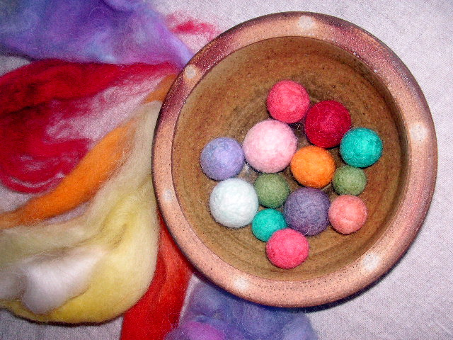 making felt balls