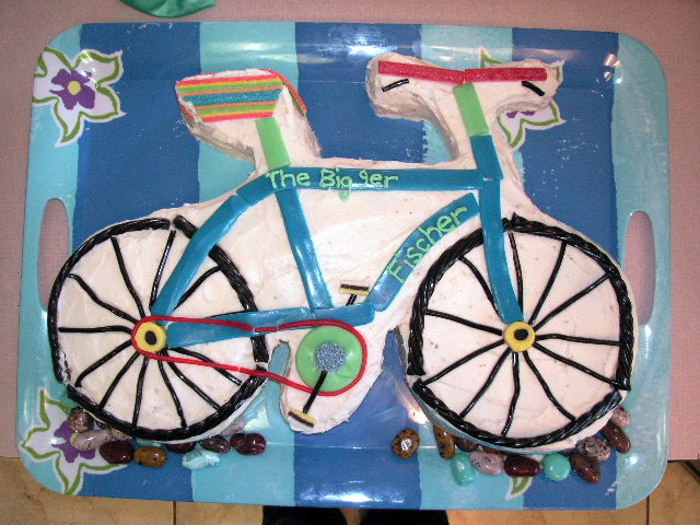 bicycle cake party