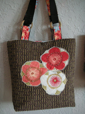 purse with flower details