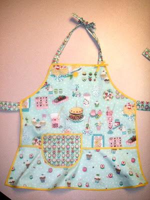 kid apron food fabric