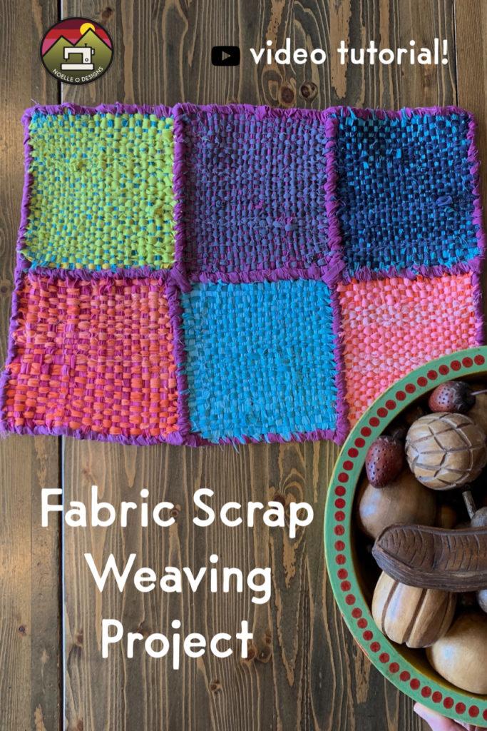 fabric scrap weaving tutorial