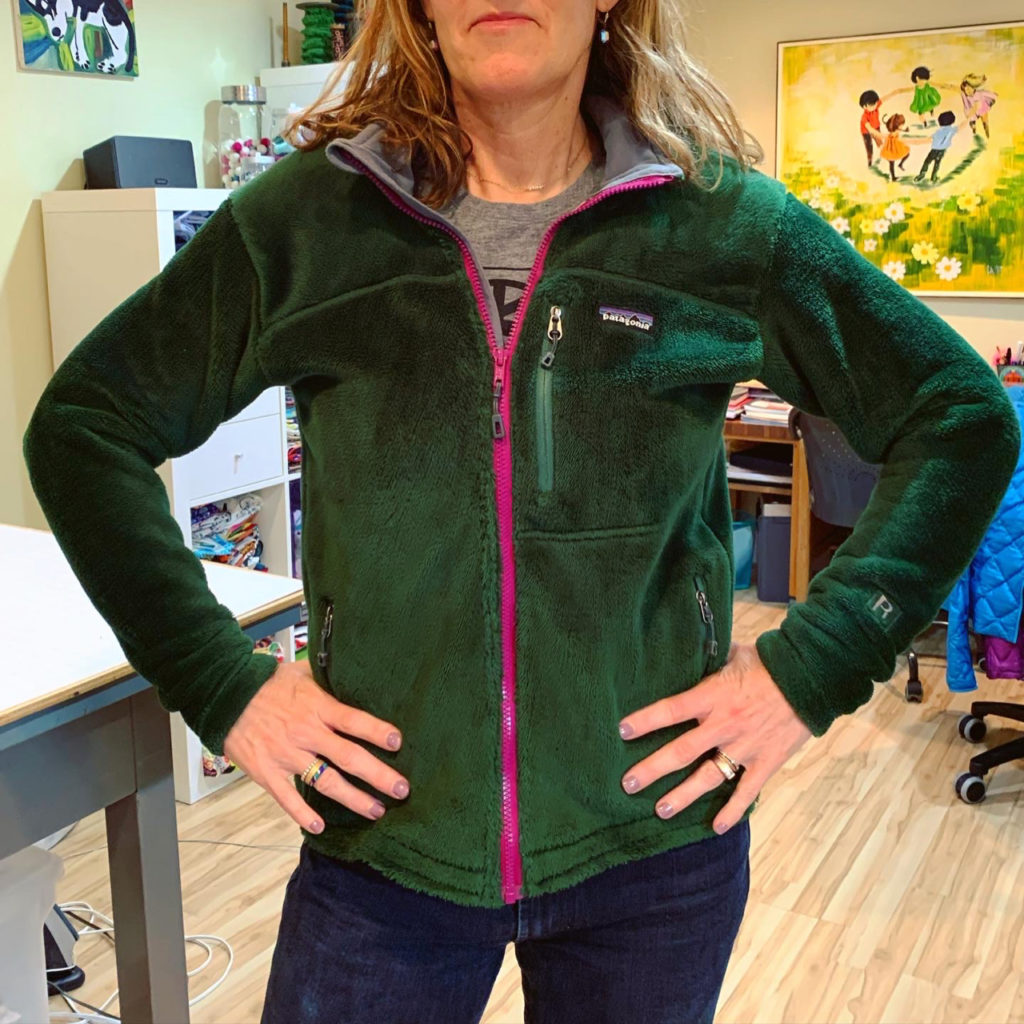 resizing a patagonia fleece coat