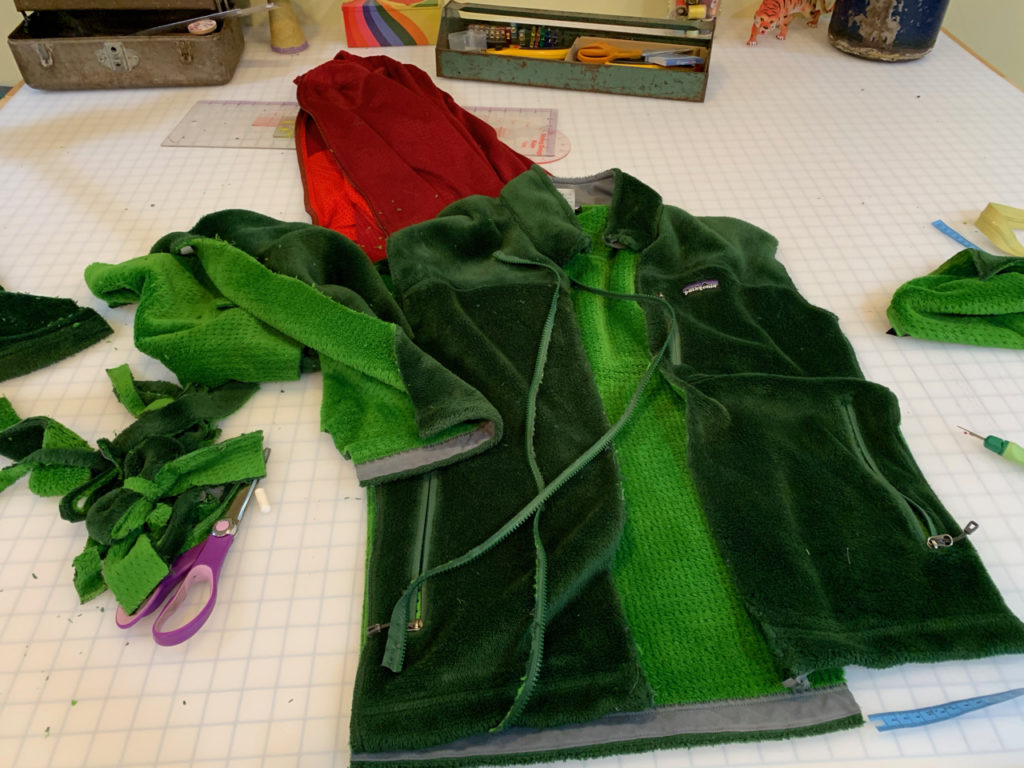 upcycling altering Patagonia fleece
