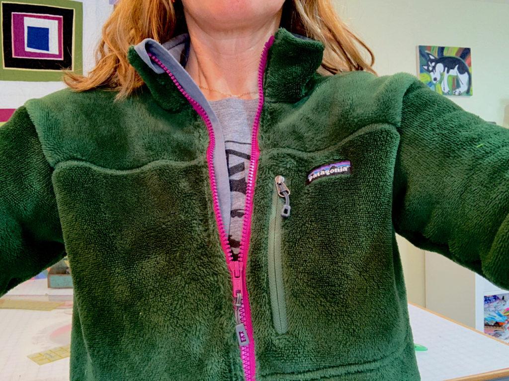 worn wear Patagonia jacket fix