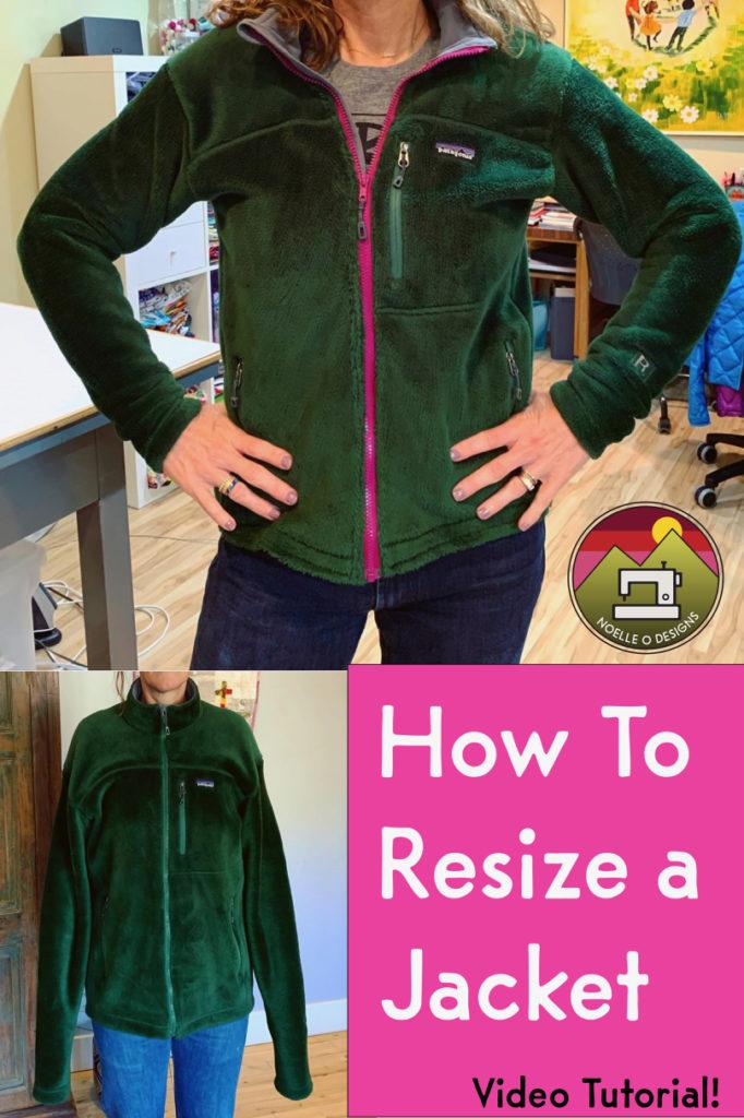 resize a jacket tutorial
