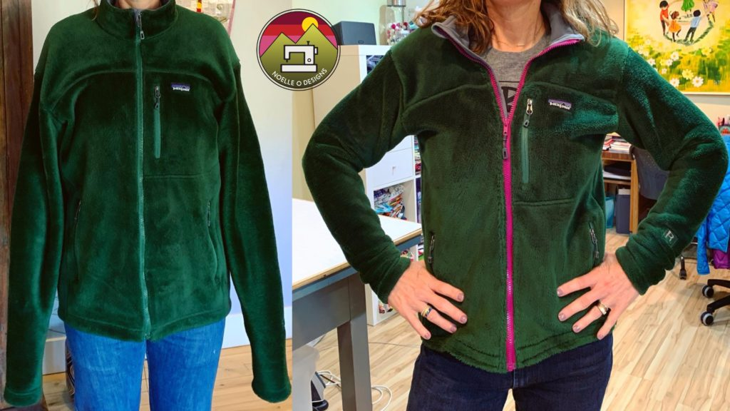 resize a Patagonia fleece