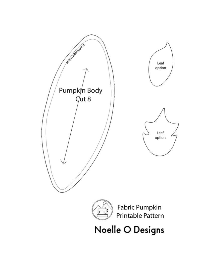 free printable fabric pumpkin sewing pattern