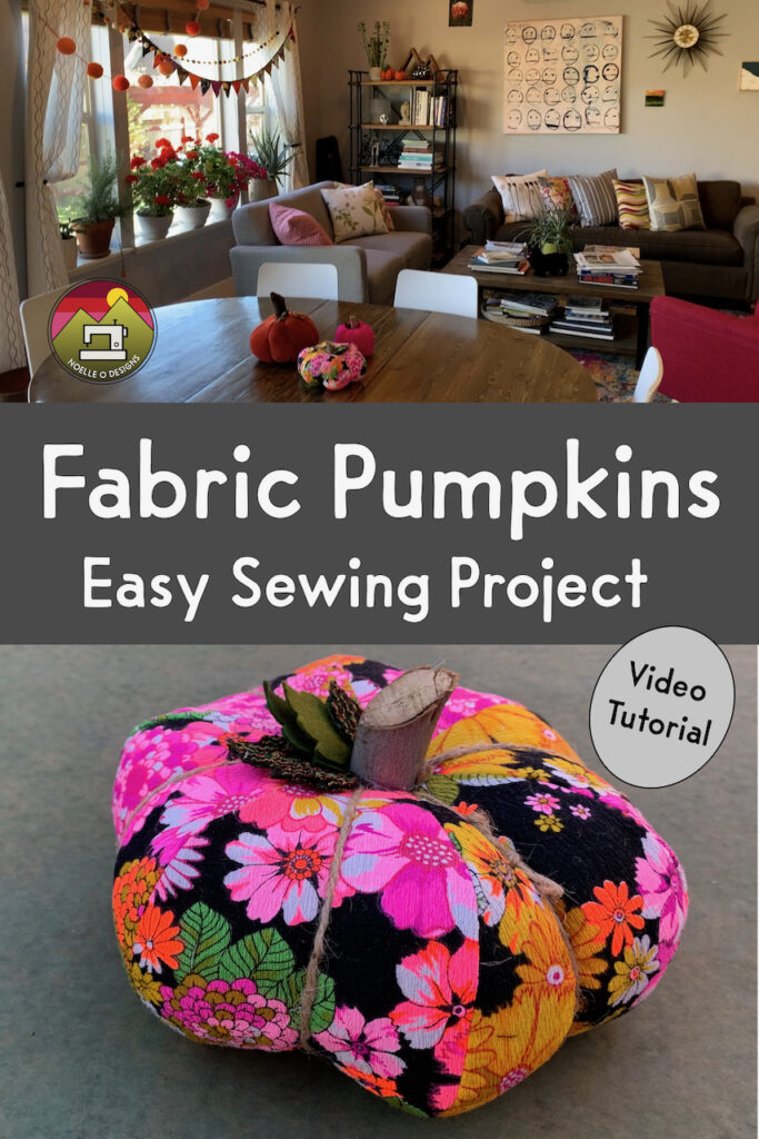 fabric pumpkin easy sewing project