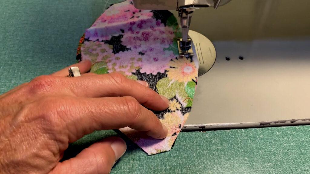 sewing a fabric pumpkin