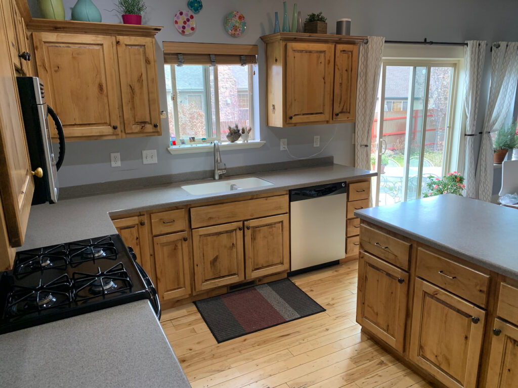 recycling old kitchen cabinets
