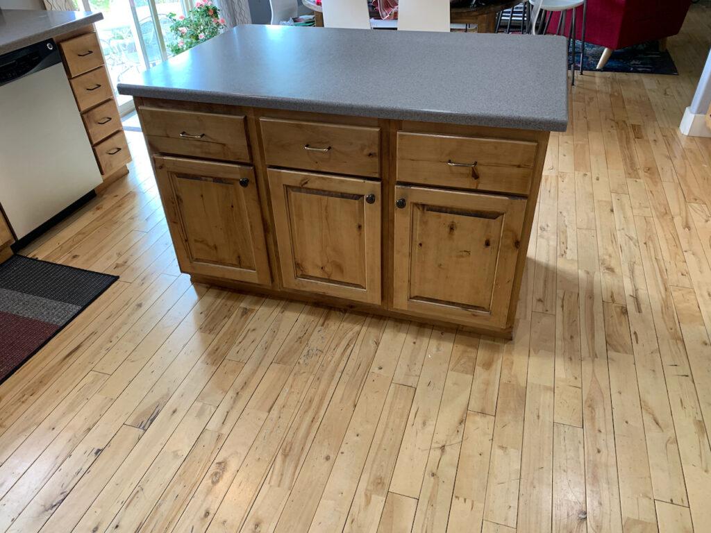 knotty alder kitchen island
